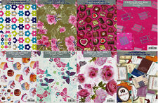 Gift Wrap Pack 2 Sheets of Wrapping Paper & Tags 70cm x 50cm Female Birthday