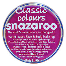 Snazaroo FUCHSIA PINK 18ml FACE PAINT Fancy Dress Stage MakeUp Sponges Brushes