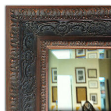 Parisienne Oranate Framed Wall Mirror, Vanity Bathroom Mirror Bronze Black