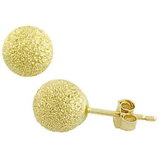 4mm 5mm 6mm 7mm 8mm 14k YELLOW GOLD ROUND LASER CUT GOLD BALL STUD EARRINGS
