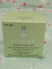 Clinique Youth Surge Night Age Decelerating Night Moisturizer 50ml New Boxed
