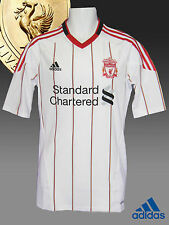 New Authentic ADIDAS LIVERPOOL FOOTBALL Shirt PLAYER ISSUE White  S/Slvd M-L