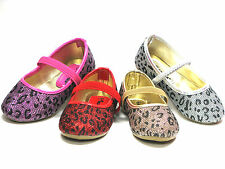 SlipOn Flats For Baby Toddler Girls Sparkly Leopard Print Sz 6 7 8 9 10 11