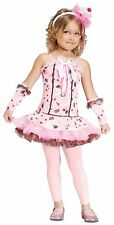 Girls Cupcake Costume Pink Cup Cake Kids Childs Toddler Hat Fancy Dress 3T-4T