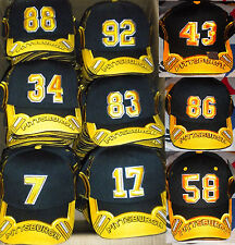 Pittsburgh Steelers Cap - Black/Gold Players Number Hat (Select Your Number)