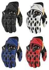 Icon Mens Overlord Short Street Motorcycle Leather Gloves All Sizes