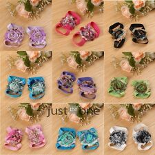 Cute Baby Infant Toddler Barefoot Socks Sandals Shoes Blooms Foot Flower Chiffon