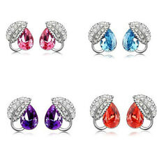 Fashion New Hot Women Elegant Crystal Rhinestone Alloy Earring Jewelry Pendant