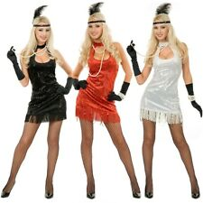 Flapper Costume Adult Womens Roaring 20s Halloween Fancy Dress