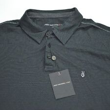 NEW $89 JOHN VARVATOS USA Men's Polo Shirt Peace Sign - Black - Small / Med / Lg