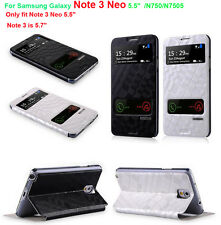 Baseus S-View Stand Cover Skin Case For Samsung Galaxy Note 3 Neo /N750/N7505