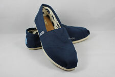 New AUTHENTIC TOMS Women's Classics NAVY Canvas Shoes with Original Box