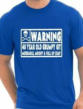 40 Year Old Git Mens Funny 40th Birthday Gift Fathers Day T-Shirt Size S-XXL