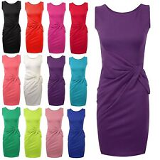NEW WOMENS BIG BOW DETAIL PLEATED LADIES SHIFT PARTY CASUAL DRESSES SIZE UK 8-24