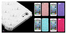 Apple iPhone 5 5s High Quality 3D Pearl Diamante Image Protector Cover Case