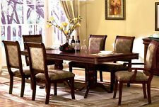Formal Dining Room Furniture Set w/ 6 chairs in Cherry color Dining Table Set
