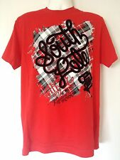 SOUTHPOLE MEN'S GRAPHIC PLAID T-SHIRT (RED) STYLE 14121-1013