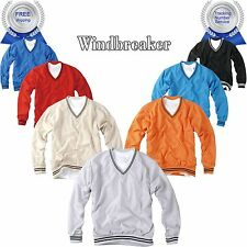 Mens Golf V-Neck Wind Shirt Jacket Windbreaker Top Pullover Waterproof Resister