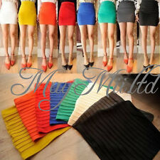 Hot Sexy Mini Skirt Slim Seamless Stretch Tight Short Fitted Candy Dress Skirt O
