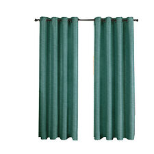 Blue Tonal Stripe Galleria Blackout Thermal Insulated Grommet Window Curtains