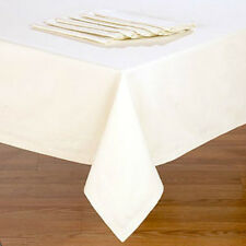"""HOTEL BISTRO 90"""" EXTRA WIDE HEMMED TABLECLOTH ASST SIZES WHITE,  ECRU / IVORY"""