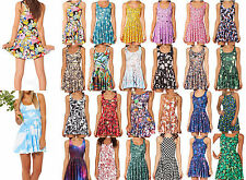 lovely fashion Lady Graphic Printed Cartoon Animate Skater Two-Way Singlet Dress