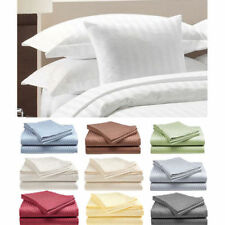 4-Piece Set: Hotel Deluxe 100% Cotton Sateen Bed Sheet Set