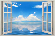 3D The beautiful views Sticker Removable outside window Mural Wall Decal Vinyl
