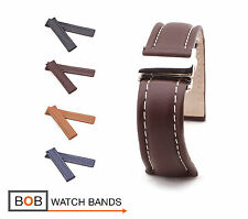 BOB Classic Calf Deployment Strap for Breitling, 20, 22, 24 mm, 4 colors, new!