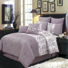 Bliss Elegant & Chic Purple Luxury 8-Piece 100% Polyester Comforter Set