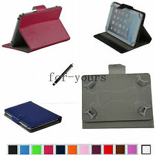 "Colorful Folio Claw Grip Case+Pen For 10.1"" Ployer Momo12/Pipo M9/Ampe A10 Tab"