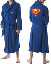 Superman DC Comics Embroidered Name & Logo Blue Robe Adult Men's NWT Licensed