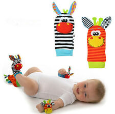 Cute Baby Animal Foot Socks Rattles Toys Glove Creative Infant Finders