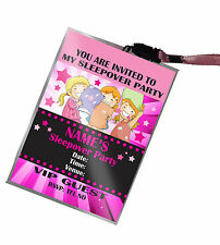 Personalised VIP Pass Lanyard for Girl's Sleepover Birthday Party Invite