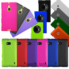 Hard Rubberized Case Matte Snap On 2-Piece Cover For Nokia Lumia Phones