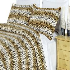 Cheetah 4-PC 300 Thread Count Comforter Set, Printed 100% Cotton