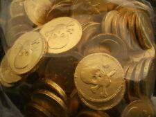FOILED GOLD LARGE BELGIAN MILK CHOCOLATE PIRATE COINS PARTY SWEETS CHOOSE AMOUNT
