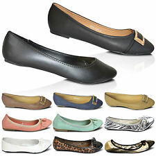 Ladies New Flat Elasticated Ballet Pumps Womens Dolly Ballerina Shoes Size UK