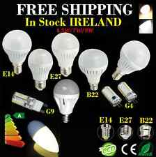 4 X  G9 E14 B22 E27 G4 LED Globe Candle Spot Light Golf Ball Bulb Lamp Warm/Day