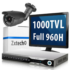 1 x 1000TVL Day & Night Camera HDMI Recorder H.264 Cloud CCTV Home Complete Set