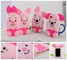 For iPhone 4 4S 5 5S Festival gift Disney Cute piglet pig animal Silicone Case