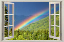 Window RAINBOW Wall Decal View Art Decor Home Stickers Vinyl Removable Sticker