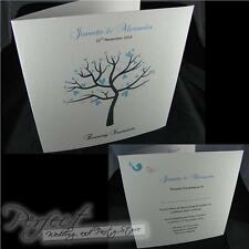 Personalised White Wedding Evening Reception Sidefold Invitations And Envelopes