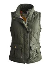 Joules Classic  Womens Gilet In Dark Everglade Green