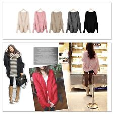 Winter Womens Knitted Cardigan Batwing Outwear Loose Sweater Coats Tops