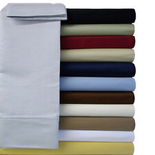 California-King Attached Solid Soft & Wrinkle-Free Microfiber Waterbed Sheet Set