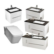 Vada Range Vanity Furniture Cabinet Basin Units with Galaxy Wall Hung Toilet Pan