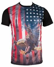 U.S. Flag American Eagle USA Stars and Stripes Sublimation Men's T-Shirt