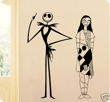 Jack and Sally Skellington The Nightmare Before Christmas Wall Decal Sticker Set