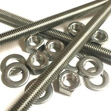 M10 A2 Stainless Threaded Bar - Studs - Studding Rod - With or Without Nuts